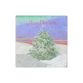 ハートのクリスマスツリー ストーンマグネット