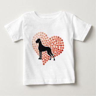 ハートのグレートデーン ベビーTシャツ