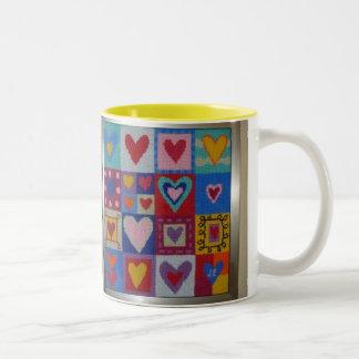 ハートのコーヒー・マグ ツートーンマグカップ