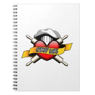 ハートのシェフの生命: 焼けること ノートブック