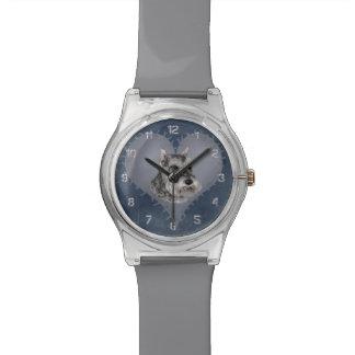 ハートのシュナウツァー 腕時計