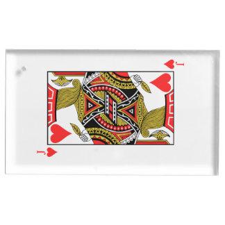 ハートのジャック-あなたのイメージを加えて下さい テーブルカードホルダー