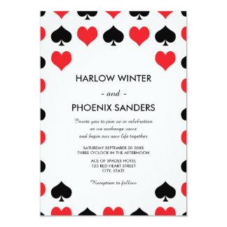 ハートのスペードカジノの結婚式招待状 カード