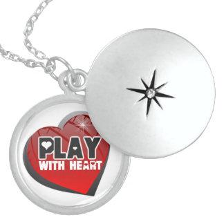 ハートのスポーツのロケットのネックレスが付いている演劇 ロケットネックレス