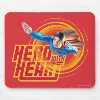 ハートのスーパーマンの英雄 マウスパッド