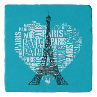 ハートのタワー及び銘刻文字パリ トリベット