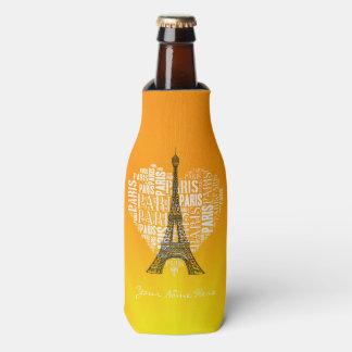 ハートのタワー及び銘刻文字パリ ボトルクーラー