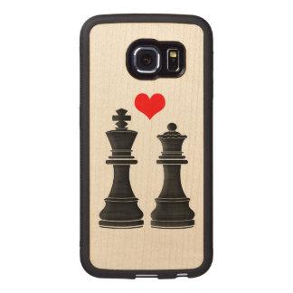 ハートのチェスの王そして女王 ウッドケース