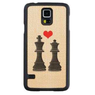 ハートのチェスの王そして女王 CarvedメープルGalaxy S5スリムケース