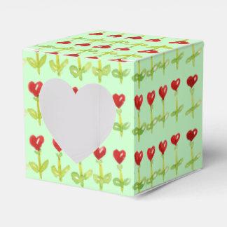 ハートのチューリップの赤の花 フェイバーボックス