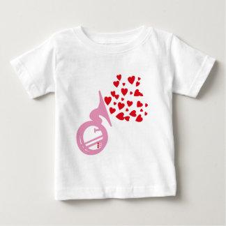 ハートのテューバ ベビーTシャツ
