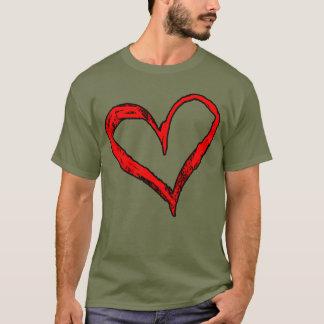ハートのデザインのTシャツ Tシャツ