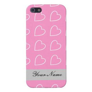 ハートのデザインはあなたの名前を置きました iPhone 5 CASE