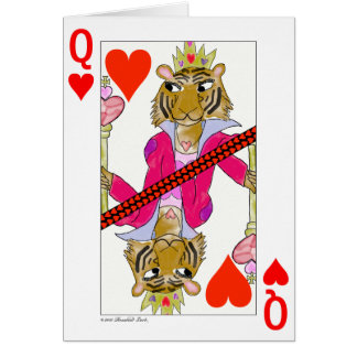 ハートのトラの女王 カード
