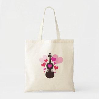 ハートのトートバックとのバイオリンの芸術 トートバッグ