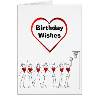 ハートのネットボールは誕生日を置きます カード