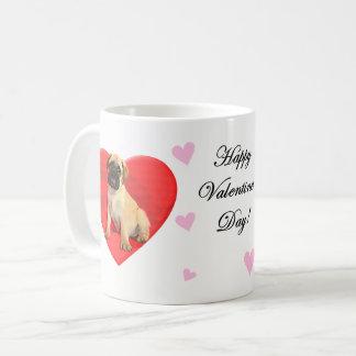 ハートのバレンタインのBullmastiffのコーヒー・マグ コーヒーマグカップ