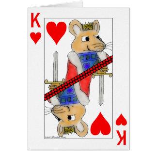 ハートのバレンタインカードのもてあそぶラット王 カード