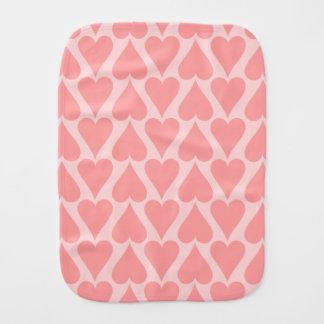 ハートのバレンタインデーの背景の珊瑚のピンク バープクロス