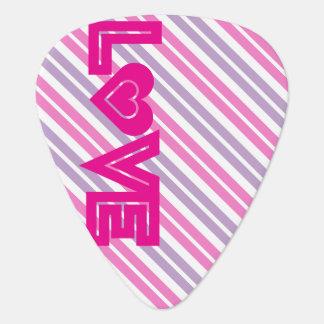 ハートのピンクの愛 ギターピック