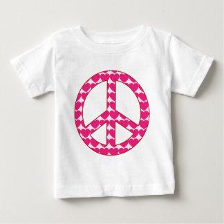 ハートのピースサイン ベビーTシャツ