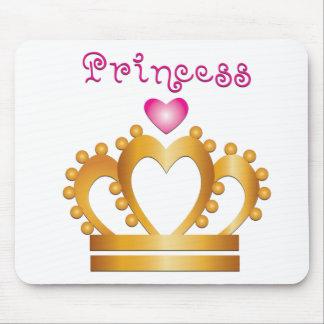 ハートのプリンセスの王冠 マウスパッド