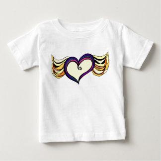 ハートのベビーの罰金のジャージーの飛んだTシャツ ベビーTシャツ