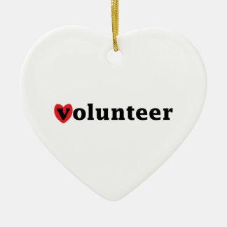 ハートのボランティア セラミックオーナメント