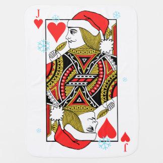 ハートのメリークリスマスジャック ベビー ブランケット