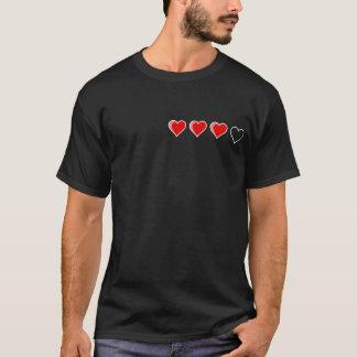 ハートのメートルの黒 Tシャツ