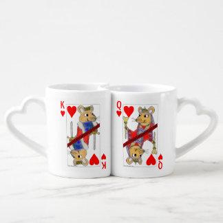 ハートのラット王そして女王 ペアカップ