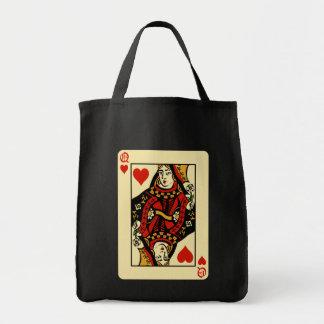 ハートのレトロの女王 トートバッグ