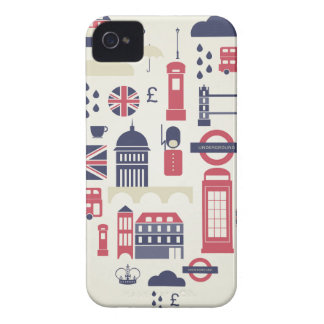 ハートのロンドン Case-Mate iPhone 4 ケース
