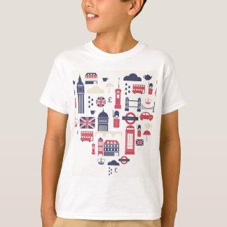 ハートのロンドン Tシャツ