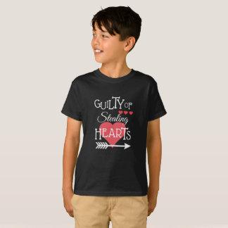 ハートのワイシャツの窃盗の罪がある Tシャツ