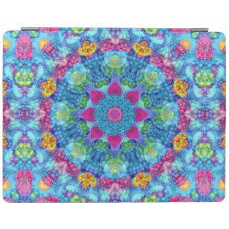 ハートの万華鏡のように千変万化するパターンのiPadの頭が切れるなカバー iPadスマートカバー