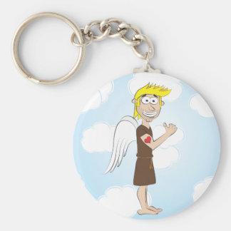 ハートの入れ墨のkeychainとの堅い天使 キーホルダー