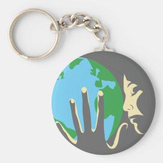 ハートの地球 キーホルダー