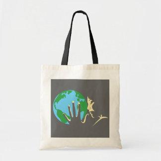 ハートの地球 トートバッグ