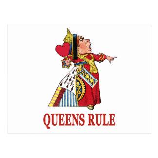 ハートの女王は女王の規則を宣言します はがき