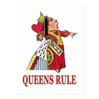 ハートの女王は女王の規則を宣言します ポストカード