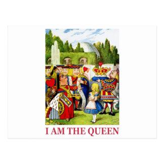 """ハートの女王は宣言します、""""私は女王です! """" はがき"""