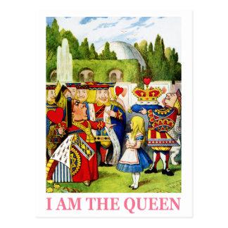 """ハートの女王は宣言します、""""私は女王です! """" ポストカード"""