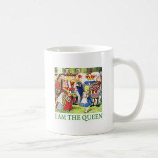 """ハートの女王は言います、""""私は女王です! """" コーヒーマグカップ"""