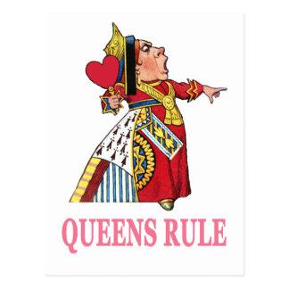 """ハートの女王は、""""女王の規則宣言します! """" ポストカード"""