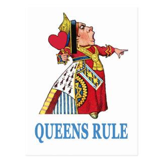 """ハートの女王は、""""女王の規則宣言します! """" 葉書き"""