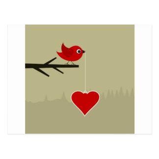 ハートの小鳥 ポストカード