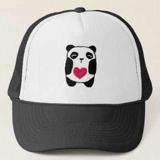 ハートの帽子を持つかわいいパンダくま キャップ