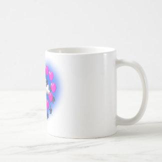 ハートの形の飛んでいるな象 コーヒーマグカップ