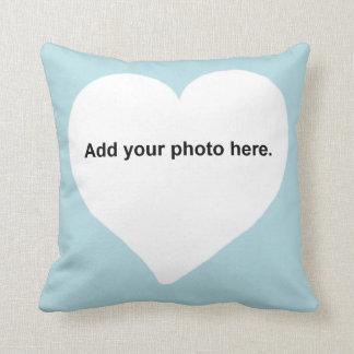 ハートの形はあなたの写真の枕を加えます クッション
